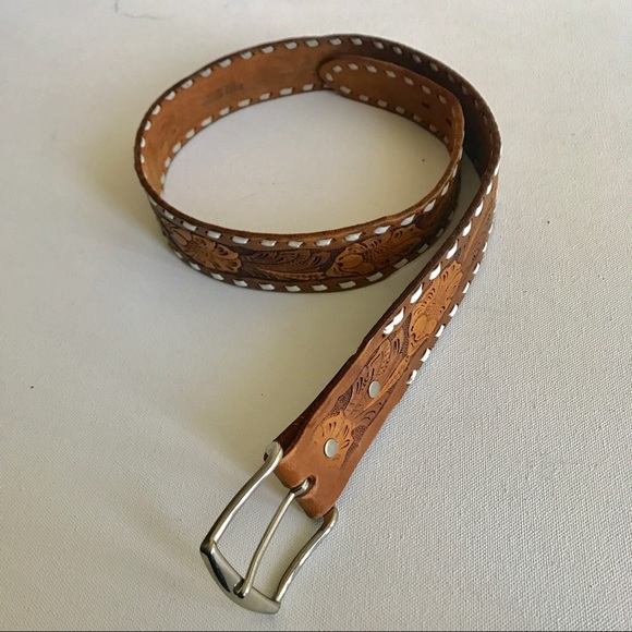 Chambers Other - Chambers hand tooled leather belt. Silver buckle.